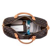 Top Mode Männer Duffel Taschen Frauen Reise Duffle Bag Brown Blume Gepäck Große Kapazität Sport Handtaschen Designer Tote Größe 45-55cm # 51885 Klicken Sie auf Originalbild sehen