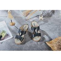 Zapatillas zapatos para mujer Use sandalias de mujer de tacón alto en verano. Sandalia de moda 2021