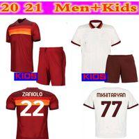 2021 22 ROMA HOME TOWER JERSEYS مع 20/2 21 Dzeko Perotti Totti de.rossi Camisetamen's + قميص كرة القدم للأطفال