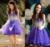 Lavender Short Little Girls Pageant Dresses A Line Crystals Beaded Child Toddler Brithday Party Prom Kids Formal Wear Lovely First Communion Gowns Flower Girl Dress