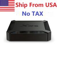Statek z USA) X96Q Android 10 OS Allwinner H313 Quad Core 2 GB RAM 16GB ROM 2.4GHZ WIFI 4K Smart TV Box