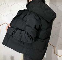 Зимняя куртка высочайшее качество вниз куртки мужские водонепроницаемые пальто наружные толстые теплые перья мужчины мода без воротника воволок не воротник из воротника Дудун Homme Parka