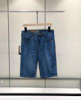 21ss Kısa Pantolon Erkekler Klasik Tasarımcı Denim Pantolon High-end Streç Denim Kumaş Mektup Nakış YKK Fermuar Yaz Tüm Maç Trendy Temel Beş Noktası Kot