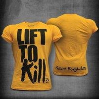 Herren T-Shirts Gym Fitness T-shirt Männer Casual Kurzarm T-Shirt Sommer Baumwolldruck T-Shirt Tops Male Bodybuilding Workout Crossfit Appa