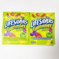 أحدث LifeSavers SweetArts Gumpies Sours أكياس تغليف 500mg الحامض لكمة لدغات البريدي قفل ordibles التجزئة الحلوى غائر حقيبة جافة زهرة smell mylar الصالحة للأكل