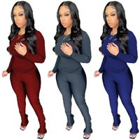 Women's Two Piece Pants Set Tracksuit Women Festival Clothing Fall Winter Top+Pant Sweat Suits Neon 2 Outfits Matching Sets