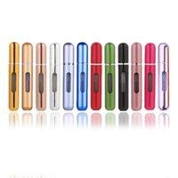 5ml 10ml Aluminum Perfume Bottle Refillable Travel Perfam Atomizer Mini Glass Spray Bottles Empty Fragrance Atomizers