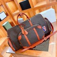 حقيبة سفر زهرة قديمة بلون مغاير مطار حقيبة يد كبيرة بوسطن حقائب القماش الخشن أكياس 61cm مصمم الرجال والنساء الفاخرة