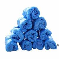 Einweg-Kunststoff-Einweg-Schuhabdeckungen Outdoor Rainy Day Teppichreinigungsschuh Abdeckung Anti Slip Blau Wasserdichter Schuh HWD7318