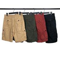 Männer Shorts Sommer Klassische Hose Mode Outdoor Baumwolle Cargo Shorts Abzeichen Buchstaben Mittelhosen Hip Hop Fünfte Hosen Lässige Männer Kleidung