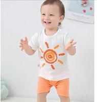 2021 NOUVEAU Bébé Vêtements de bébé Summer Skourve Skourve Suit Boys 2 ans Deux ensembles de marée 220