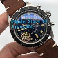 DP Men Relojes Os Mira la mejor calidad Reloj de cuarzo Batería de cuarzo Movimiento de barrido Original Cierre de cuero marrón Correa 43mm