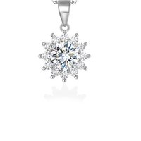 3ct Moissanite Wedding 925 silver Earring Necklace Ring Set