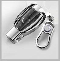 Hohe Qualität Autoschlüsselgehäuseabdeckung Tasche TPU für Mercedes Benz C E S-Klasse W203 W204 W205 W211 W212 W213 W220 W221 W222 W222 mit Keychain