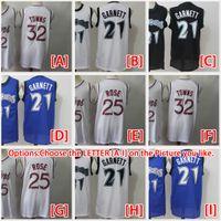 2021 NACC Basketball Jerseys Mens Kevin 21 Garnett Jersey Karl-Anthony 32 Städte Derrick 25 Rose Rotro genäht