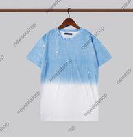 21ss summer paris designer luxury tshirt mens classical letter print t shirt casual cotton womens bue t-shirt casual tops tee