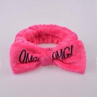 الأزياء OMG العصابة المرأة واسعة وجه غسل الوجه ماكياج عقال القوس التعادل عقال عبر الحدود القوس الشعر الفرقة حزب قبعة FWF5650
