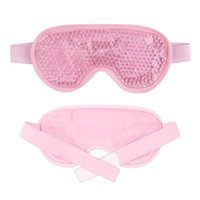 Gel Eye Masque Perles réutilisables pour une thérapie froide chaude apaisante Couverture des yeux de beauté relaxante Dormant des lunettes de sommeil masque de sommeil B QYLAWX