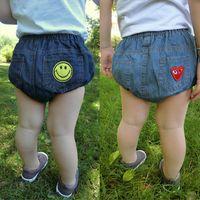 Bunny Childrens Denim Calças Baby Bloomers Meninos Meninas Shorts Algodão Jeans PP Sorriso