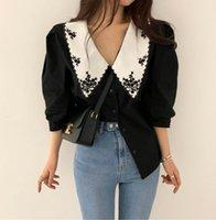 Women's Blouses & Shirts Spring Vintage White Shirt Female Oversize Tops Women Short Sleeve Girls Blouse Summer Plus Size Femme Blusas