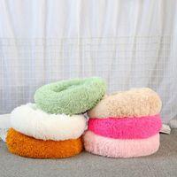 50cm de long peluche super doux animal lit kennel chien rond hiver chaleur chaude sac de couchage chiot coussin tapis portable chat fournitures