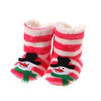 Slipper 2021 Indoor Home Slippers Kids Christmas Flannel Shoes Plush Children 21 CmWooden Floor