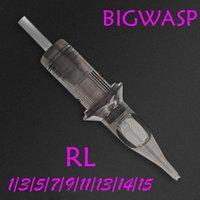 Dövme İğneleri 2021 BigWASP Standart Kartuş İğne Yuvarlak Astar Gri 0801RL 1001RL 1201RL 20 adet / kutu