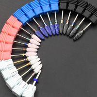 Jewhehteny Ceramic для ногтей для ногтей BITS Mill Cutter Mailiure Machine Accessoration Rotary Burr Electric Nail Biles Art Tools