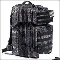 Outdoor sport outdooroutdoor taschen 50l große tarnung armee rucksack männer militär taktische rucksäcke assat molle pack wasserdichte jagd