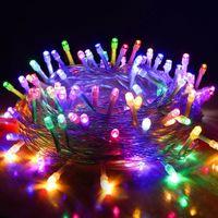 Cuerdas LED luces de Navidad 33ft 66ft 100/200 LEDs Twinkle Fairy Light Rojo Azul Verde Colorido Colorido Boda