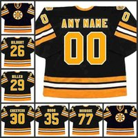26 Mike Milbury 29 Jay Miller 30 GERRY Cheevers 35 Andy Moog 77 Raymond Bourque Boston Bruins Hockey Jersey S-3XL
