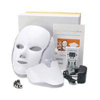 7 цветных светодиодных света PDT терапия лица для лица для красоты машины маска для лица с микротоком для затягивания кожи отбеливающее устройство