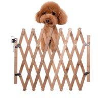 Kennels kalemler pet çit kapısı geri çekilebilir ayarlanabilir köpek sürgülü kapı ahşap kapalı kapı merdiven yavru güvenlik parc chiot