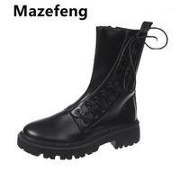 Botas goohojio mujeres negro calcetín 2021 punk gótico mujer zapatos de tobillo plataforma blanco fresco ladies11