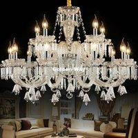 Chandeliers Modern Crystal Chandelier Living Room Lustres De Cristal Decoration Clear Pendants And Home Decora Indoor Lights
