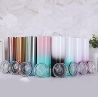 20oz skinny tumbler 20oz Color Changing skinny Cup Stainless...