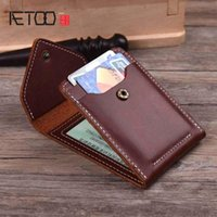 Card Holders AETOO Leather Driver's License Cover Male Head Driving Female Hand Made Retro Mad Horse