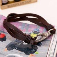 Mode Leder Webart Braid Armband Retro Schwarz Braune Armbänder Für Frauen Männer Sommer Modeschmuck Wille und Sandy