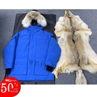2021 Winter Parkas Outerwear Women Real Wolf Fur Hooded Canada Down Jacket Top Quality Coats Hiver Doudoune 90% White Down Coat GO9-12-13