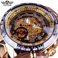 Designer Guarda Marca Orologi Marca Orologio di Prestigio Cornice Golden Mens Top Montre Homme Orologio Uomo Scheletro automatico