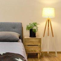Lukloy Nordic Современный минималистский этаж лампы гостиной спальня кабинет отель гостевой номер творческий твердой древесины ткань напольный свет