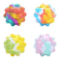 Fidget Toys Bubble Vent Ball 3D Decompression Squeeze Balls Squishy Simple Dimple Game Sensory Toy for Autism Special Needs Stress 70mm