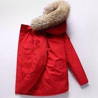 Neue Explosionsmodelle Neue Kanada Winterjacken Reale Wolf Pelz Große Taschen Mantel Dicke Daunenjacke Duck Daunenmode Mit Kapuze Kleidung Warme Parka