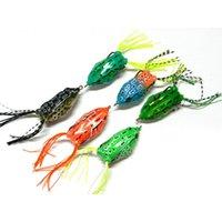 Leurre de pêche de Snakehead de Cranhankboit Fresh 5.5cm 12.5g 3D Yeux Topwater Floating Floating Rayon Soft Rayon Frog P Jlldya Chaudslove