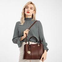 Moda Mujeres Bolsos PU Cuero Totes Bag Top-Handle Bordbe Bag Bolsa Hombro Lady Simple Mano Bolsas