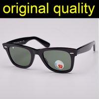 Top Quality 2140 Acetate Frame Pollarized Sunglasses Real Gglass lentes de sol óculos de sol mulheres óculos de sol proteção UV