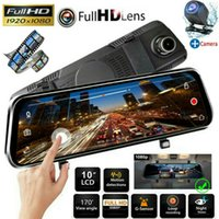 "10 ""HD 1080P 듀얼 렌즈 자동차 DVR 대시 캠 비디오 카메라 레코더 Rearview Mirror New !!"