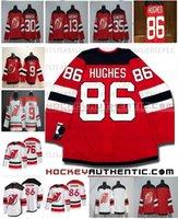 Mens Jack Hughes New Jersey Devils Red White White Hockey Jerseys Blank 76 PK Subban 9 Taylor Hall 35 Schneider 13 Nico Hischier 30 Martin Brodeur