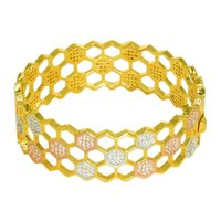 Bangle Diamond Build Love Nest Wide Version Honeycomb Fashion Bracelet Bangles Jewelry Cuff Charm Crystal Stone