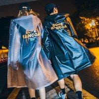 Perrero solar impermeable capa de lluvia letra de letra linda ver a través de largas niñas adolescentes mujeres claro largo transparente aflojado con capucha